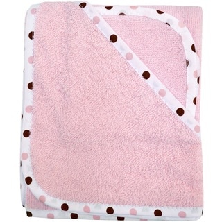 American Baby Company Pink Organic Cotton Hooded Towel Set