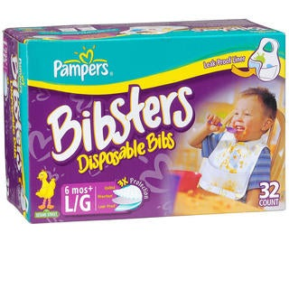 Bibsters Large Disposable Bibs (Case of 32)