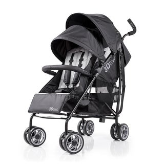 Summer Infant Black 3D Two Double Convenience Stroller