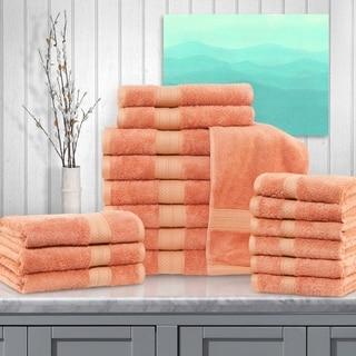 Miranda Haus Rayon from Bamboo and Cotton 18-Piece Bathroom Towel Set