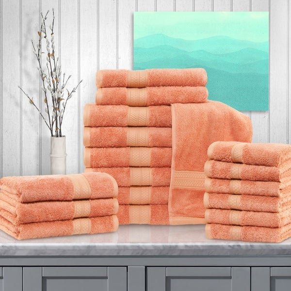 Miranda Haus Rayon from Bamboo and Cotton 18-Piece Bathroom Towel Set. Opens flyout.