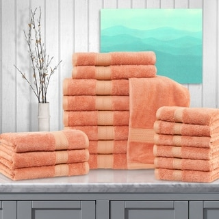 Superior Rayon from Bamboo and Cotton 18-Piece Bathroom Towel Set