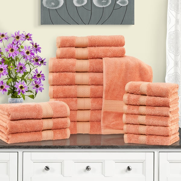 Superior Rayon From Bamboo And Cotton 18 Piece Bathroom Towel Set Great Ideas
