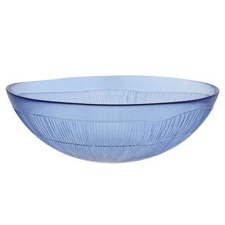French Home Sapphire Blue Birch 12-inch Salad Bowl