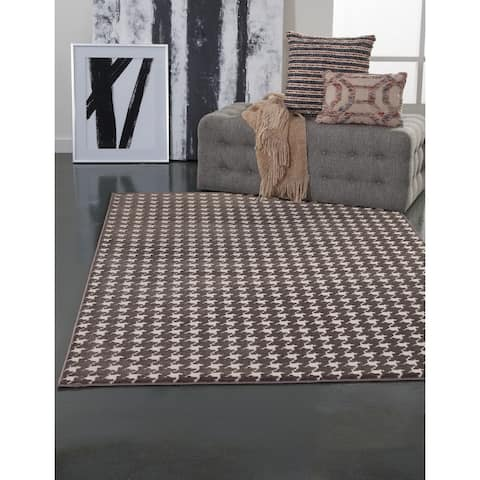 """Vera Charcoal/Grey/Ivory Area Rug by Greyson Living - 5'3"""" x 7'9"""""""