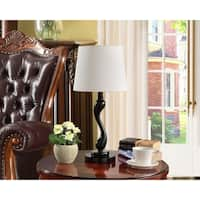 K and B Furniture Co. Inc. Black/ White Table Lamps (Set of 2)