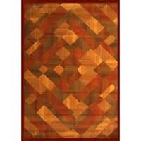 "Cora Rust/Sage/Light Brown Area Rug by Greyson Living - 5'3"" x 7'6"""