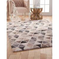 """Shea Grey/Brown/Charcoal Area Rug by Greyson Living - 5'3"""" x 7'6"""""""