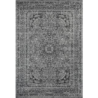Persian Rugs Antique Styled Multi Colored Grey/Gray Base Area Rug (5'2 x 7'2)