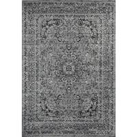 Persian Rugs Antique Styled Multi Colored Grey/Gray Base Area Rug - 5'2 x 7'2
