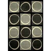 Chess Black/Grey/Ivory Area Rug by Greyson Living - 8' x 10'