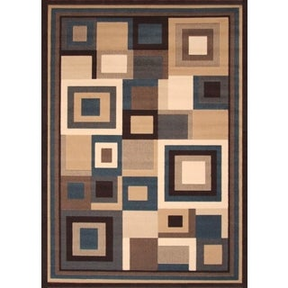 Omni Beige/Blue/Brown/Ivory Area Rug by Greyson Living (7'9 x 10'6)