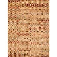 Amara Tan/Beige/Rust/Chocolate Area Rug by Greyson Living - 7'10 x 11'2