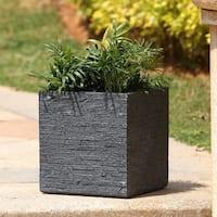 Stone Finish Square Planter