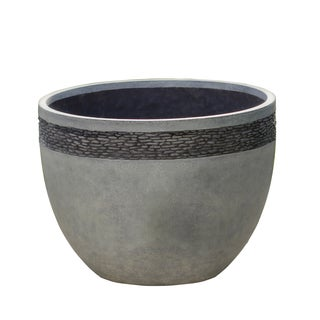 Pebble Embossed Stone Finish Round Planter