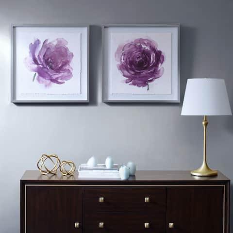 Madison Park Signature Purple Ladies Rose Frame Graphic 2 Piece Set