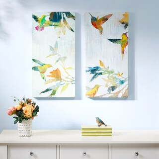 Madison Park Hummingbirds' hum Multi Gel Coat Canvas 2 Piece Set
