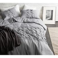 BYB Cadence Alloy Grey Textured 3 Piece Quilt Set