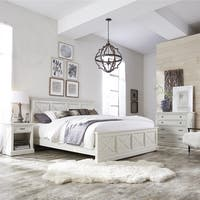 Havenside Home Port Lavaca X-detail King Bed, Nightstand, and Chest