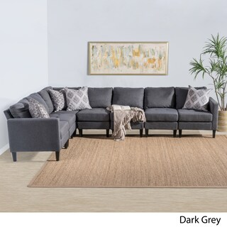 Zahra 7-piece Fabric Sectional Sofa Set by Christopher Knight Home (3 options available)