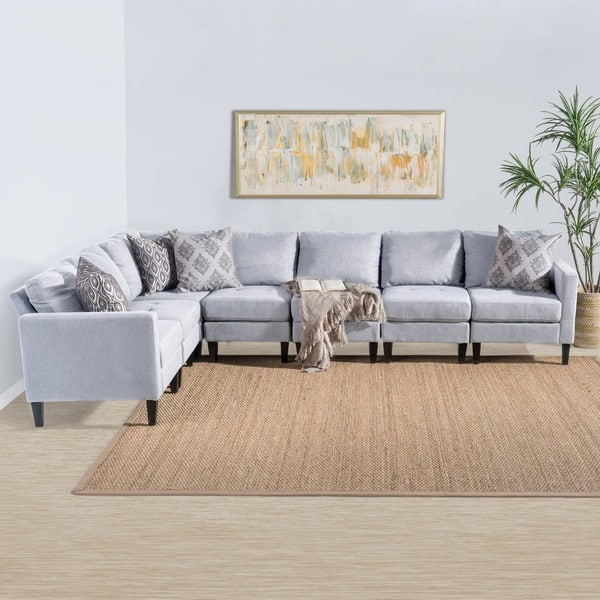 Shop Zahra 7-piece Fabric Sectional Sofa Set by Christopher ...