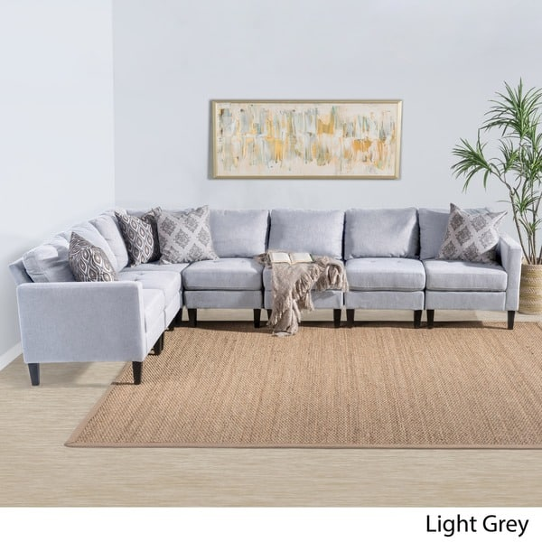 Amazing Shop Zahra 7 Piece Fabric Sectional Sofa Set By Christopher Bralicious Painted Fabric Chair Ideas Braliciousco