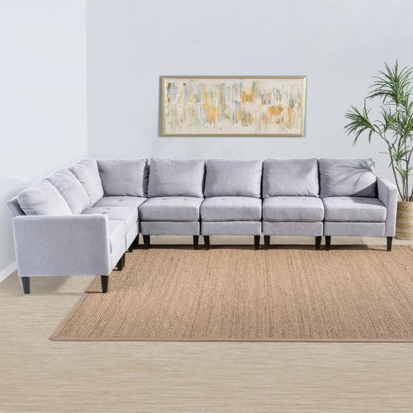Surprising Shop Zahra 7 Piece Fabric Sectional Sofa Set By Christopher Ibusinesslaw Wood Chair Design Ideas Ibusinesslaworg