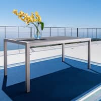 Cape Coral Outdoor Rectangle Aluminum Dining Table by Christopher Knight Home