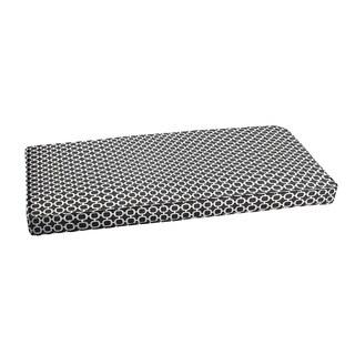Hadley II Black Chainlink Indoor/ Outdoor Bench Corded Cushion
