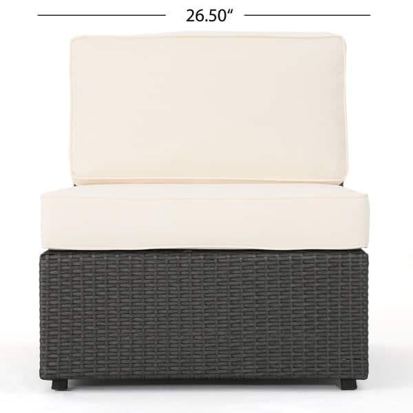 Set Da Pranzo In Rattan.Shop Santa Cruz Outdoor 8 Piece Wicker Sectional Sofa Set With