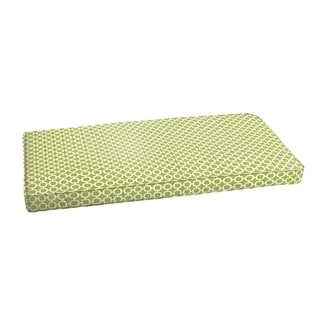 Hadley III Pear Green Chainlink Indoor/ Outdoor Bench Corded Cushion