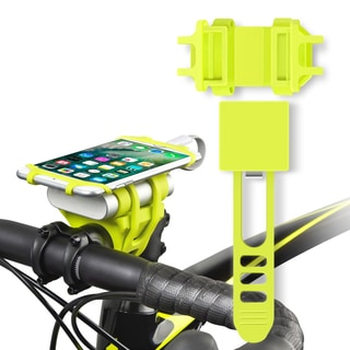 INNOKA Neon Green Bike Bicycle Motorcycle Ram MTB Handlebar Phone/ Power Bank 2-in-1 Holder with Secure Grip Mount
