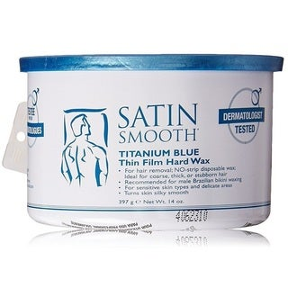 Satin Smooth 14-ounce Titanium Blue Wax