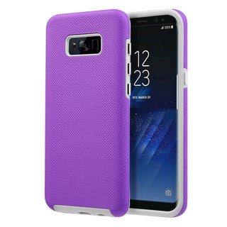 Insten Anti-Slip Integrated Hybrid Shock Absorption Hard PC/ TPU Dual Layer Case for Samsung Galaxy S8 Plus