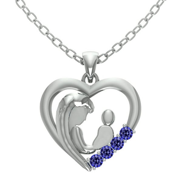 1d2922b0f9974c Shop Orchid Jewelry Sterling 0.45 Carat Tanzanite Heart Shaped ...