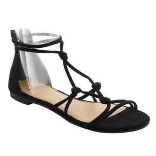 Betani Women's FJ05 Flat Heel Gladiator-style Ankle Strap Sandals