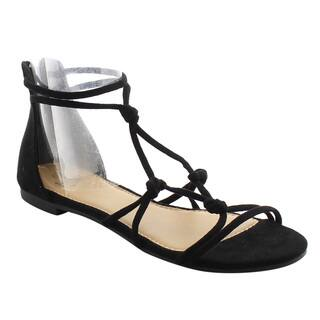 Betani Women's FJ05 Flat Heel Gladiator-style Ankle Strap Sandals|https://ak1.ostkcdn.com/images/products/15007027/P21505487.jpg?impolicy=medium