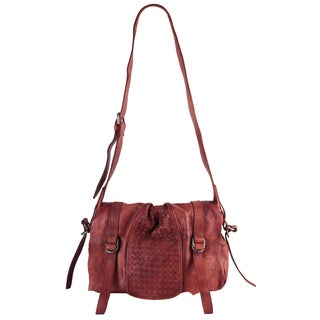 Diophy Genuine Leather Crossbody Handbag