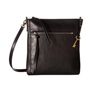 Fossil Emma Black Leather Crossbody Handbag