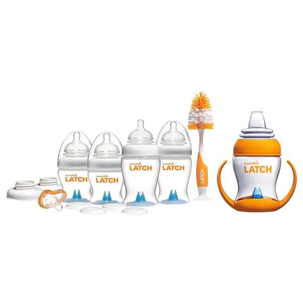 Munchkin Latch Anti-Colic Baby Bottles BPA Free 12 Piece Newborn Set