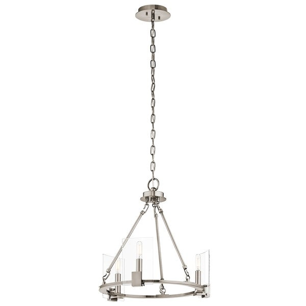 Kichler Lighting Signata Collection 3-light Classic Pewter Mini Chandelier - classic pewter