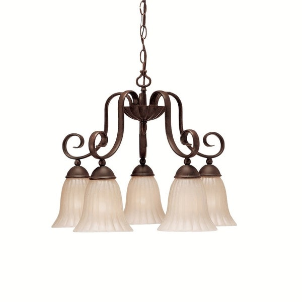 Kichler Lighting Willowmore Collection 5-light Tannery Bronze Chandelier - tannery bronze