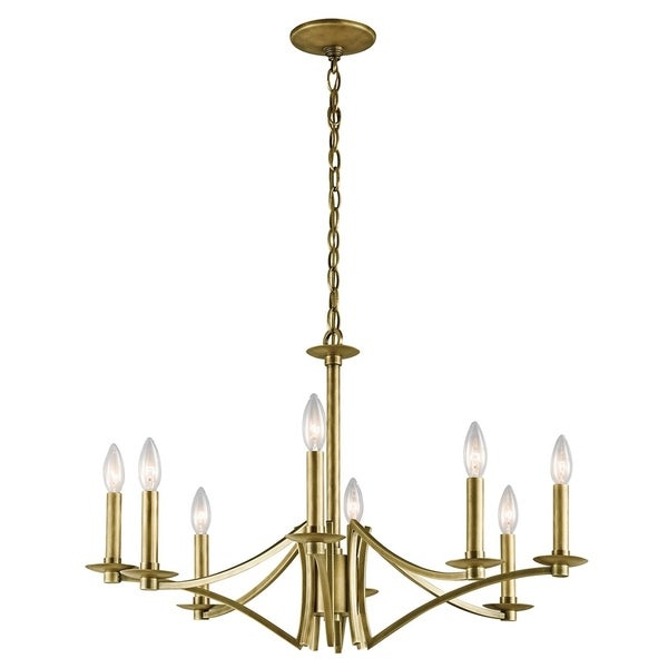 Kichler Lighting Grayson Collection 8-light Natural Brass Chandelier - natural brass