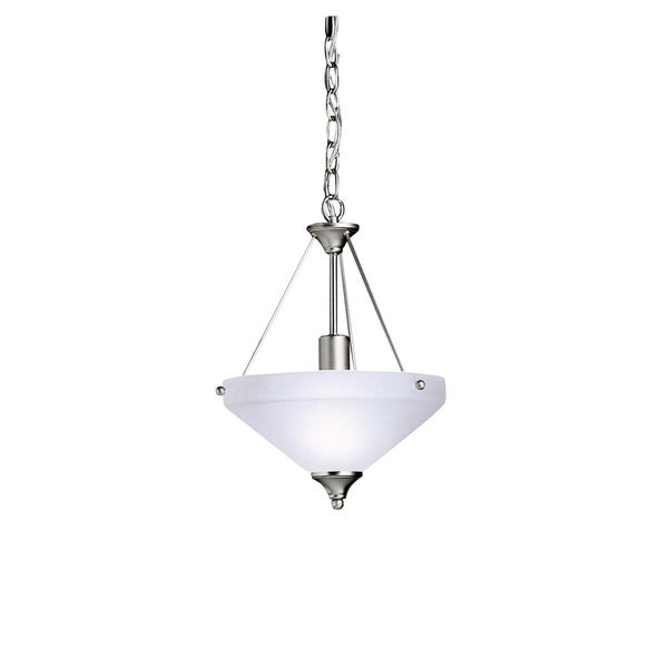 Kichler Lighting Ansonia Collection 1-light Brushed Nickel Inverted Pendant/Semi-Flush Mount - Brushed Nickel