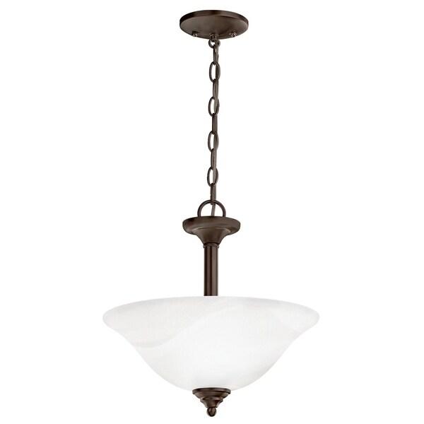 Kichler Lighting Wynberg Collection 2-light Olde Bronze Pendant/Semi-Flush Mount - olde bronze