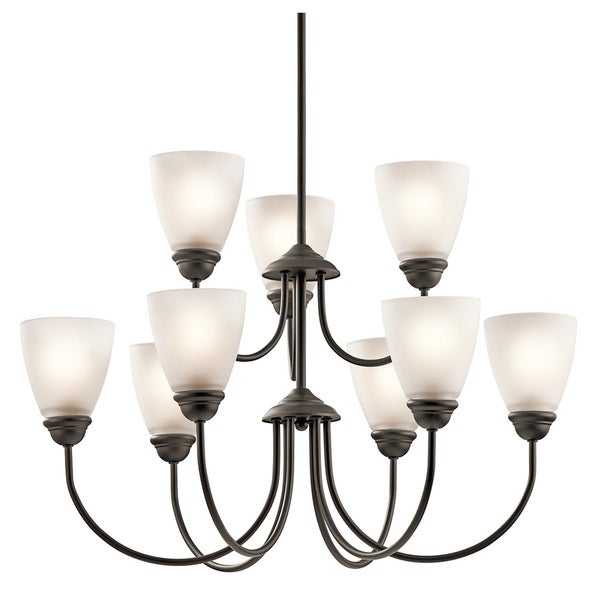 Kichler Lighting Jolie Collection 9-light Olde Bronze Chandelier - olde bronze