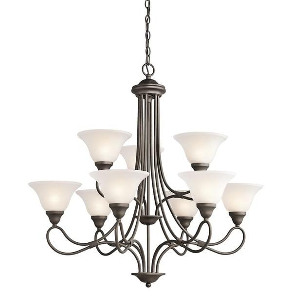 shop kichler lighting stafford collection 9 light olde bronze