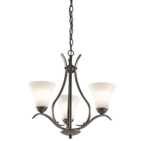 Kichler Lighting Keiran Collection 3-light Olde Bronze Chandelier - olde bronze