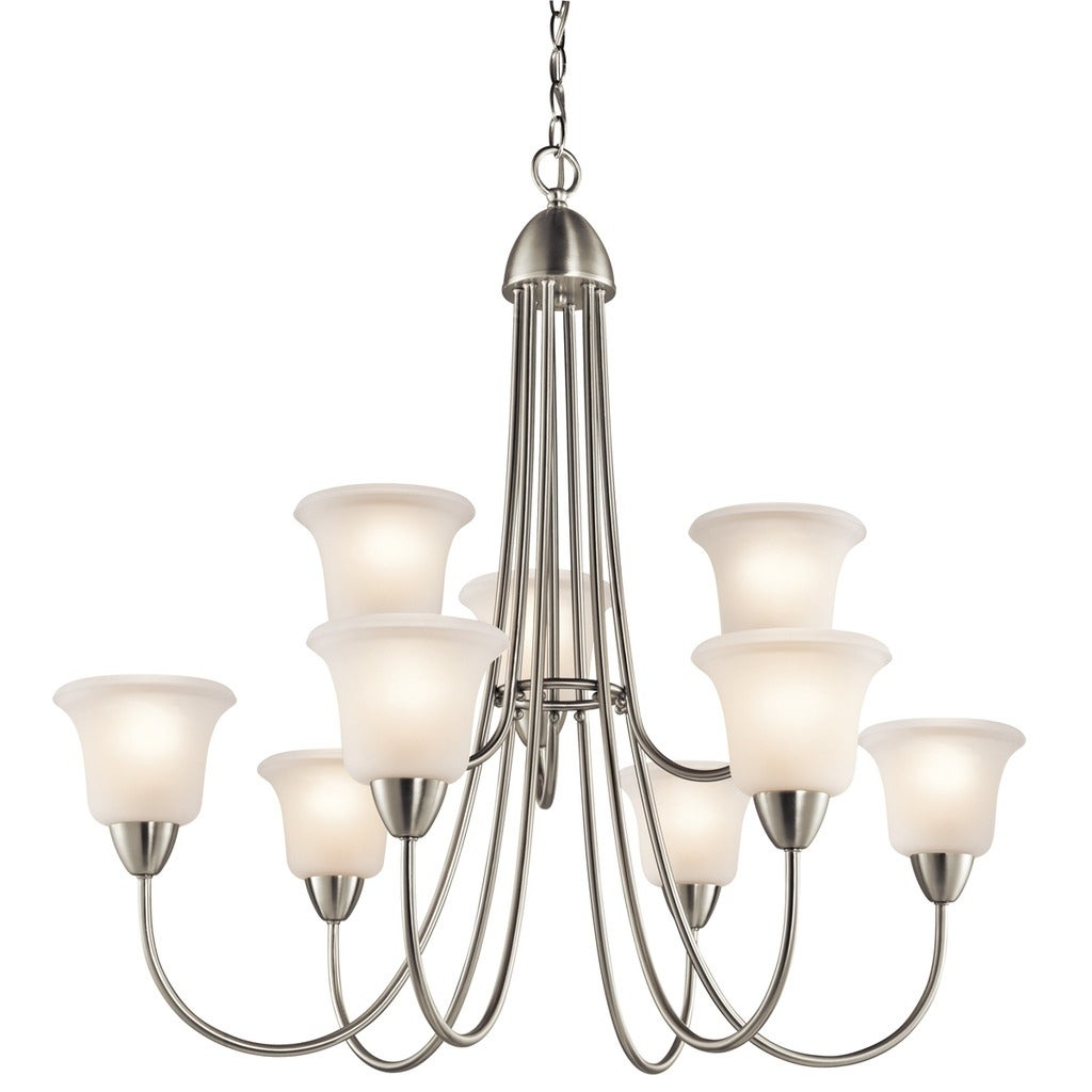 Gracewood Hollow Fettouma Collection 9-light Brushed Nickel Chandelier - Brushed Nickel