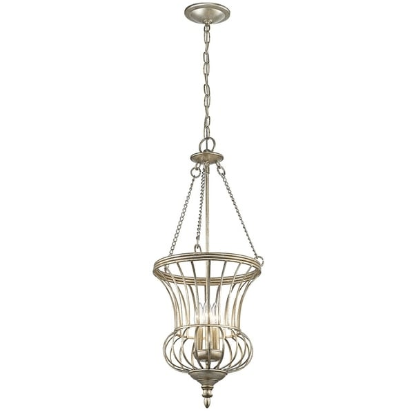 Kichler Lighting Calla Collection 3-light Sterling Gold Foyer Pendant - sterling gold
